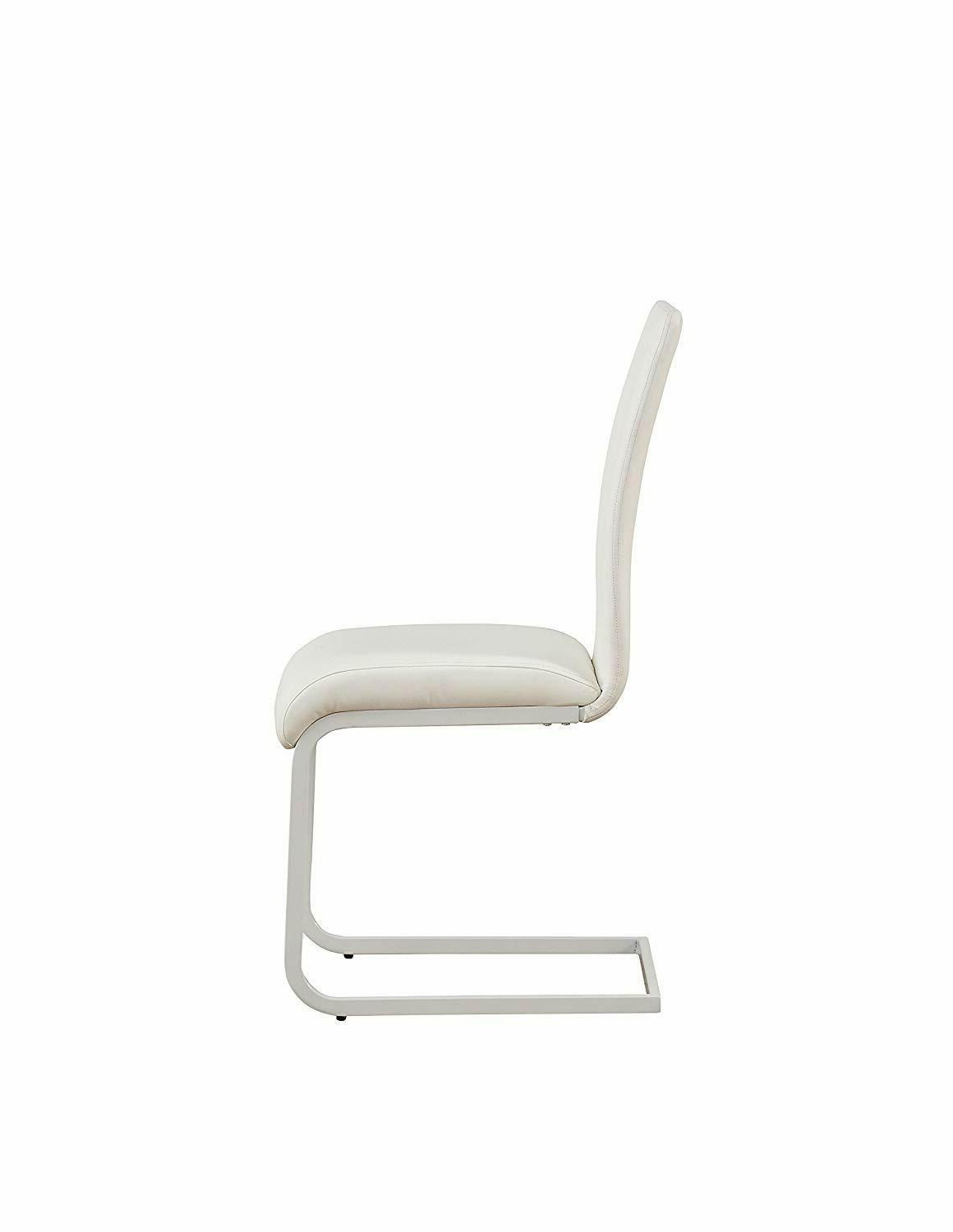 Gracie White Seat Back Dining Side of