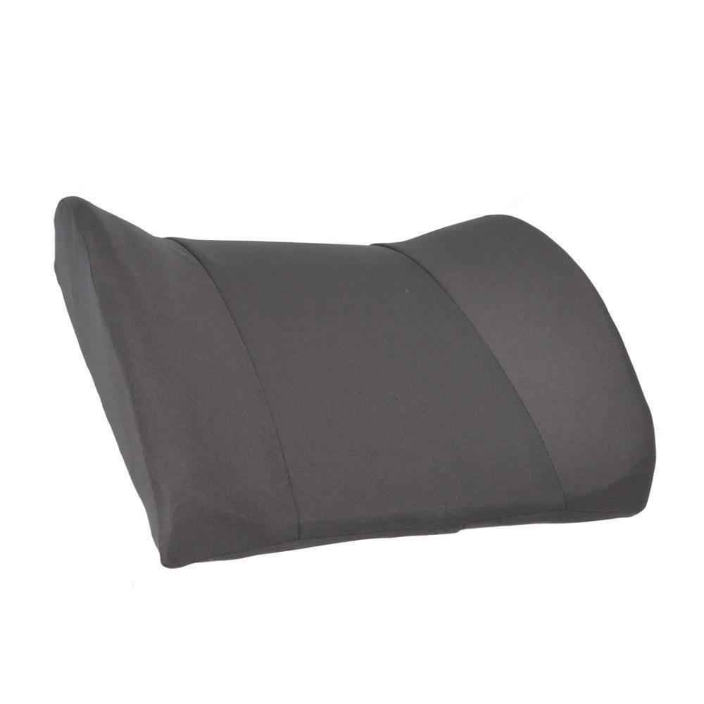 Gray Lumbar Cushion Back Support Travel Pillow Foam Car Seat
