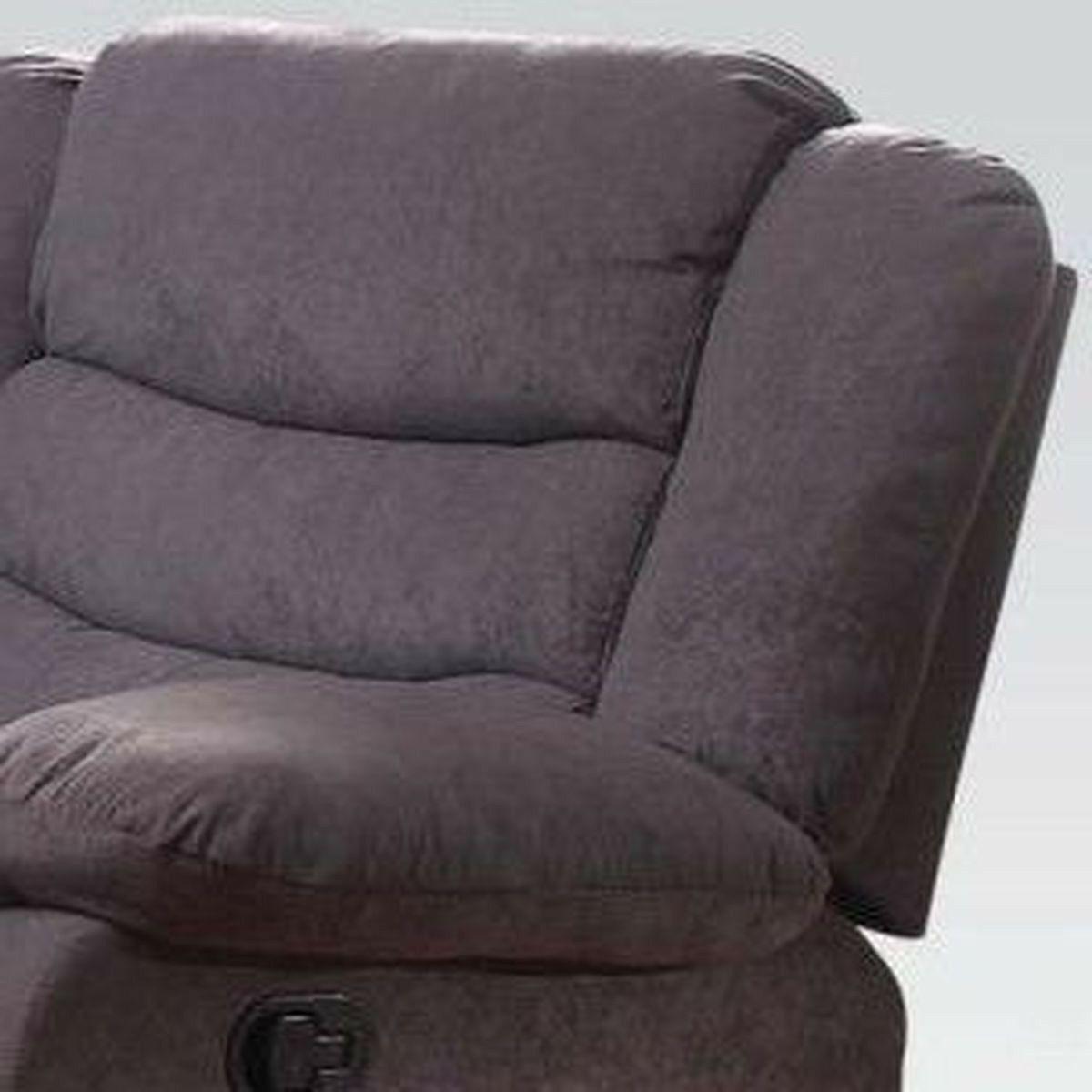 Gray Velvet Motion Set & Seat & Living