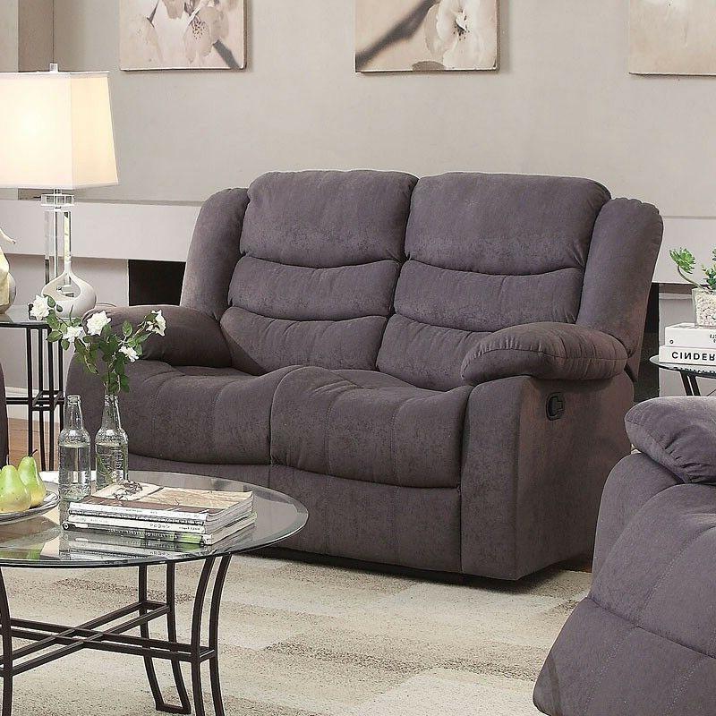 Gray Velvet Motion Set & Recliner Seat Back Living Set