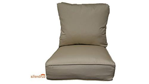 sunbrella antique beige cushion set