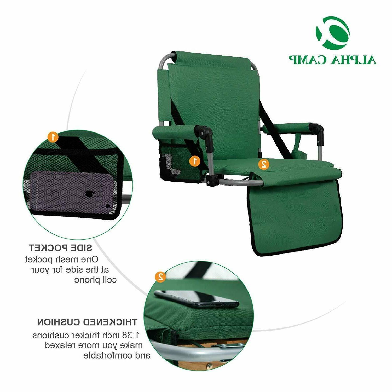 ALPHA Green Thickened Folding Stadium Chair Bleachers