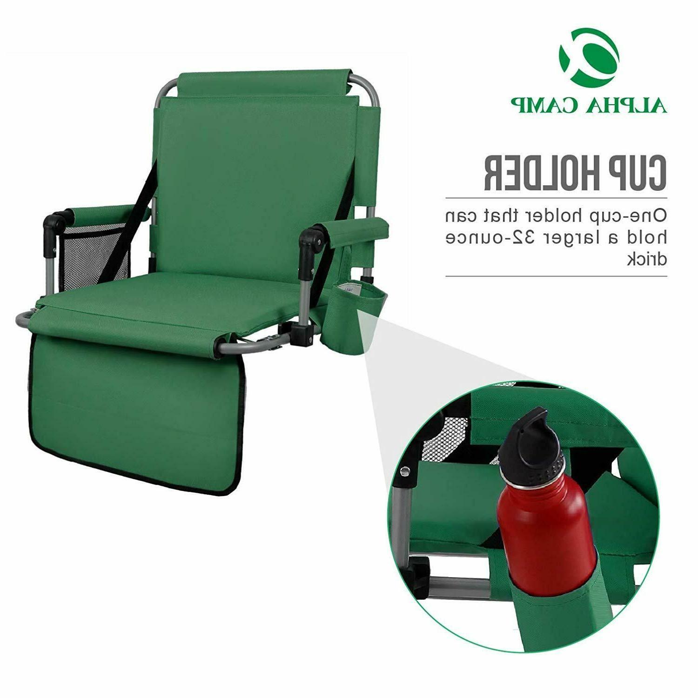 ALPHA CAMP Folding Seat Chair Bleachers