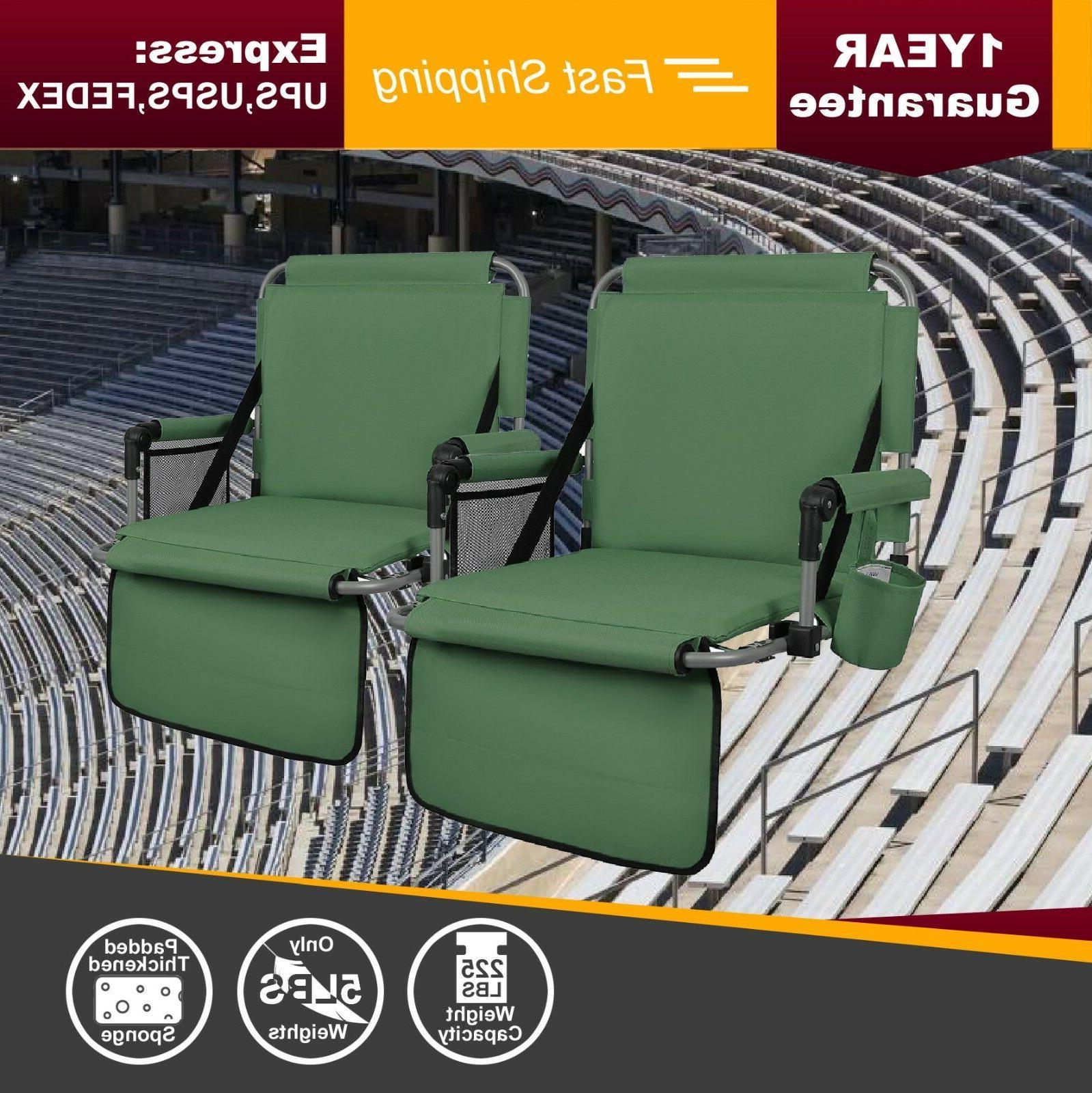 green thickened folding bleacher stadium seat cushion