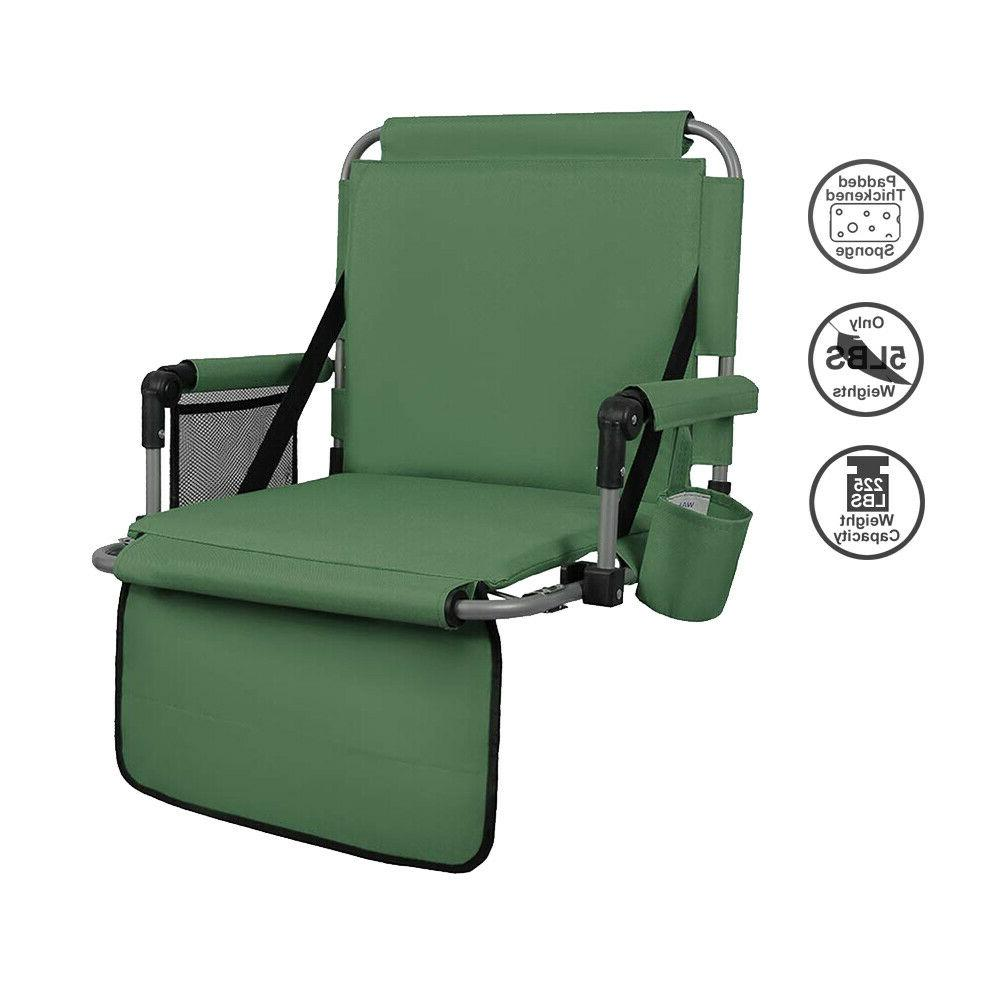 green thickened folding stadium seat cushion chair