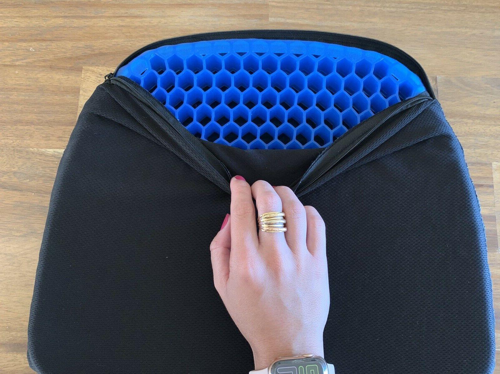 Honeycomb Gel Flex Cushion Seat Sitter Pillow Back Support FREE