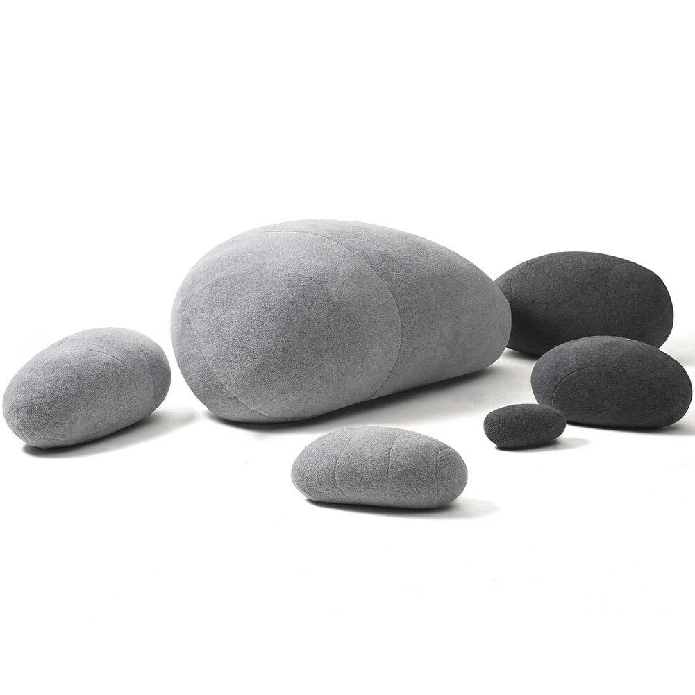 Huge Plush Pebble Stone Toys Cushion 6pcs