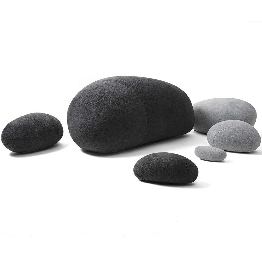 Huge Rock Pebble Stuffed Throw 6pcs