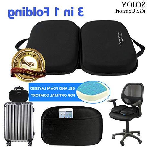 Sojoy 3 in 1 Foldable Gel Seat Cushion Foam