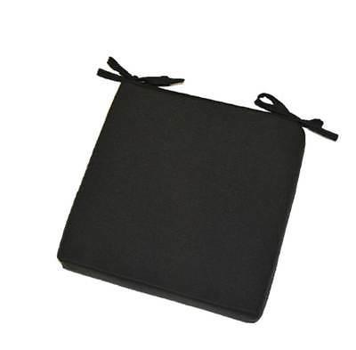 In / Outdoor Foam Seat Cushion w/ Ties - Solid Black - Choos