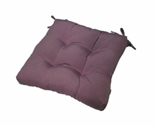 """In/Outdoor Tufted Seat Cushion w/Ties Solid Purple - 16"""" x 1"""
