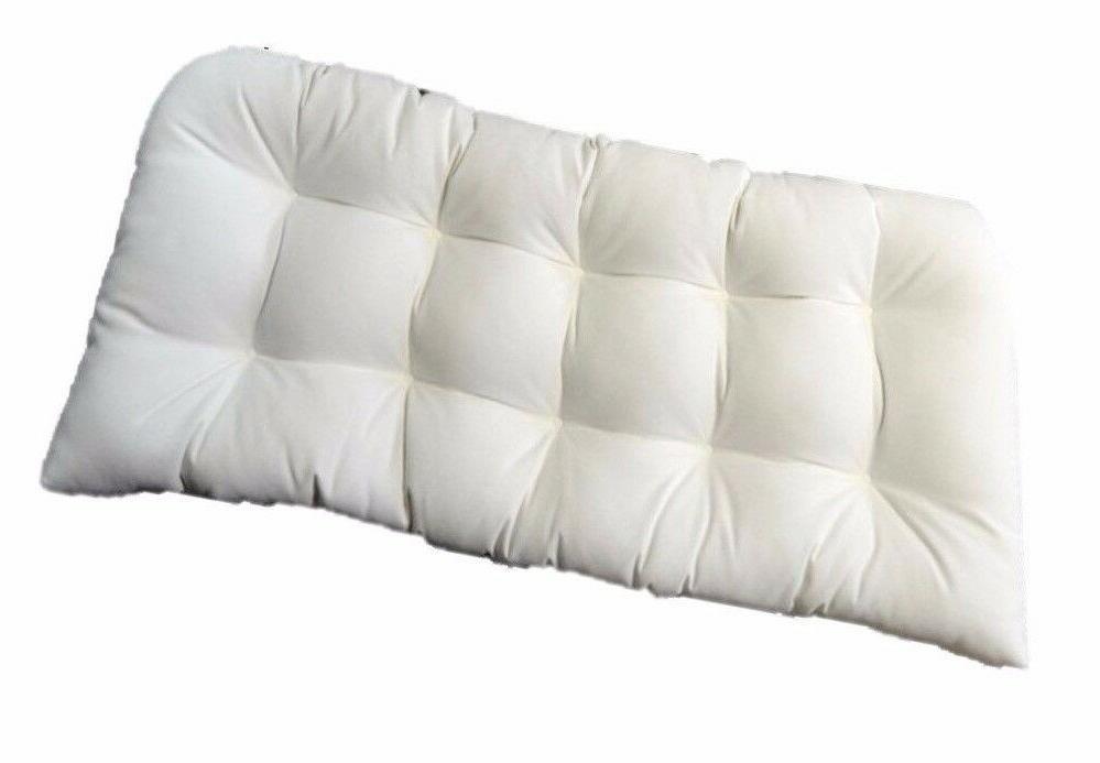 in outdoor wicker loveseat settee bench cushion