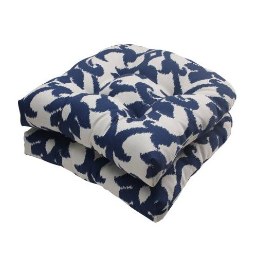 Pillow Perfect Outdoor/ Indoor Bosco Navy Wicker Seat Cushio