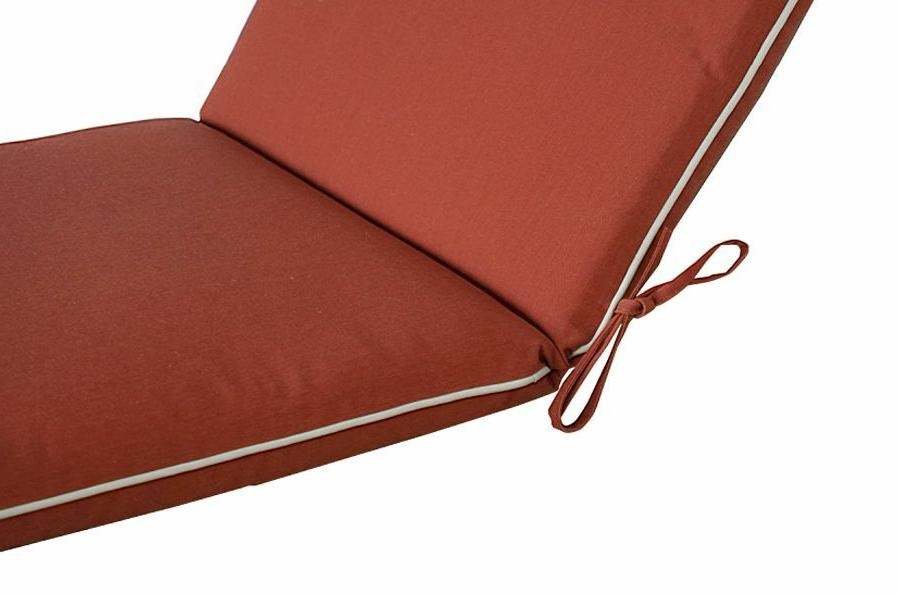 Bossima Cushions High Back Chair Pad Set 2 Red