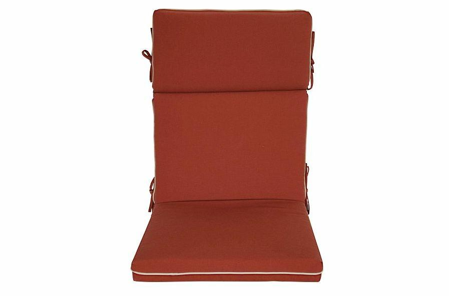 Bossima High Back Chair Pad Set Red