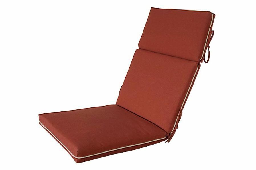 Bossima Outdoor/Indoor High Back Chair Pad Set 2 Red