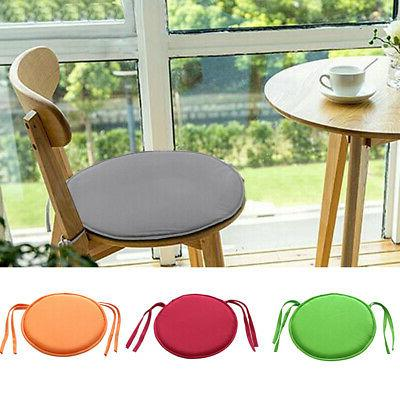 Round Dining Seat Pad Tie On Chair Cushion Cover Garden Outd