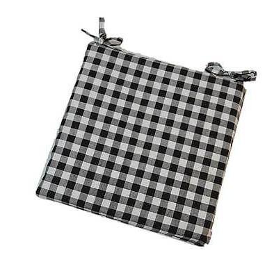 indoor foam seat cushion w ties black