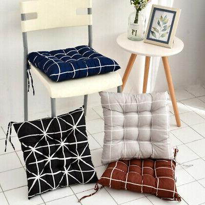 plaid seat pad dining room office garden
