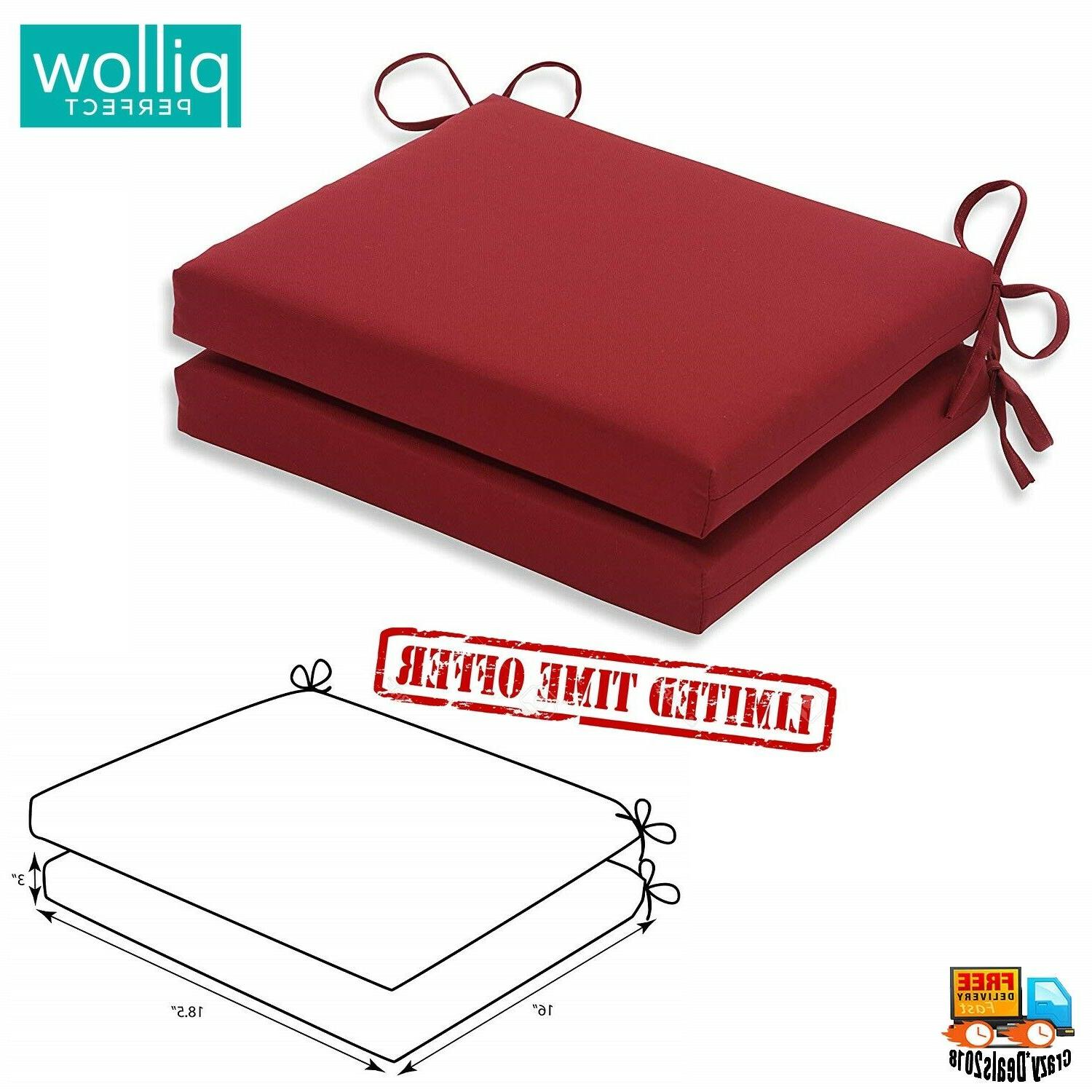 indoor red solid seat cushion