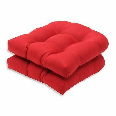 indoor red solid wicker seat
