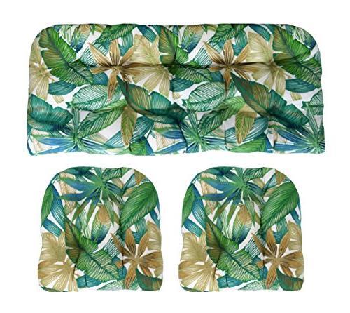 indoor wicker cushions two u