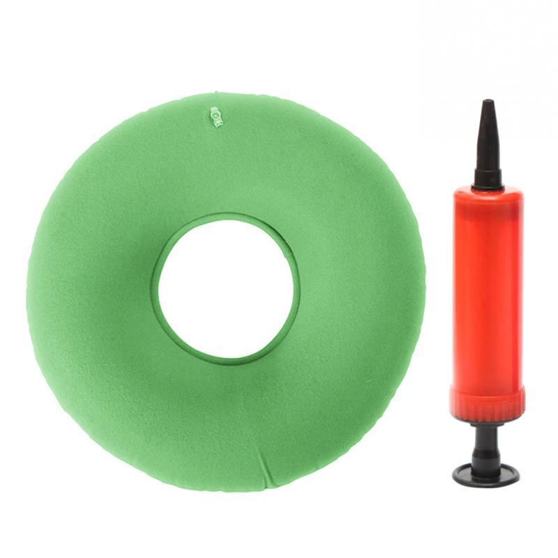 Inflatable Vinyl <font><b>Seat</b></font> <font><b>Medical</b></font> Pillow Free Pump Rubber Pad 34*12 cm