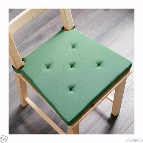 IKEA JUSTINA Chair Pad Green Indoor Outdoor Patio Seat Cushi
