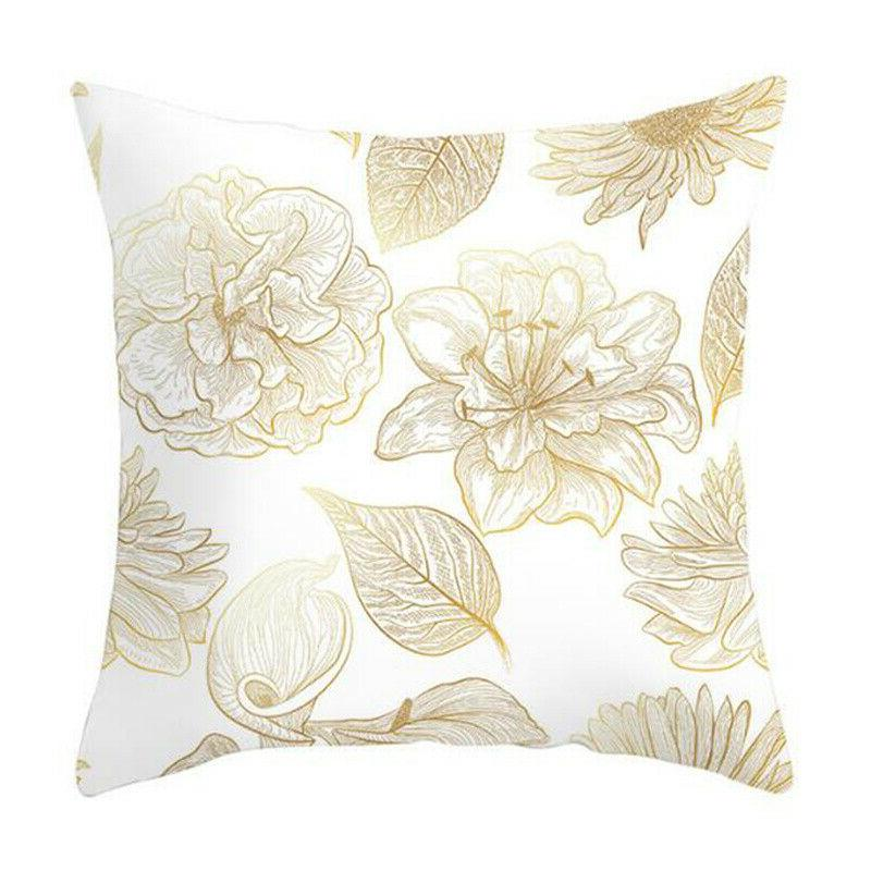 """Leaves Print Seat Throw Pillow Case Home 18x18"""""""