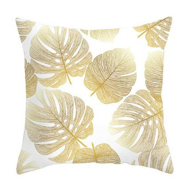 """Leaves Print Seat Pillow Case Home 18x18"""""""
