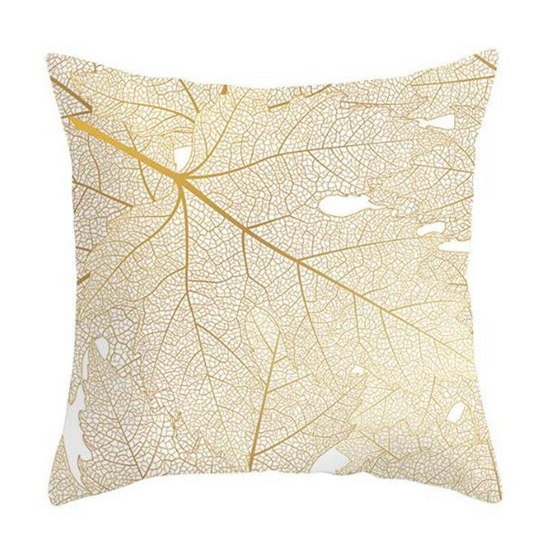 "Leaves Print Seat Sofa Pillow Case 18x18"""