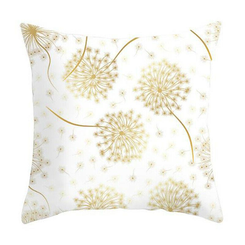 """Leaves Print Cover Seat Sofa Pillow Case 18x18"""""""