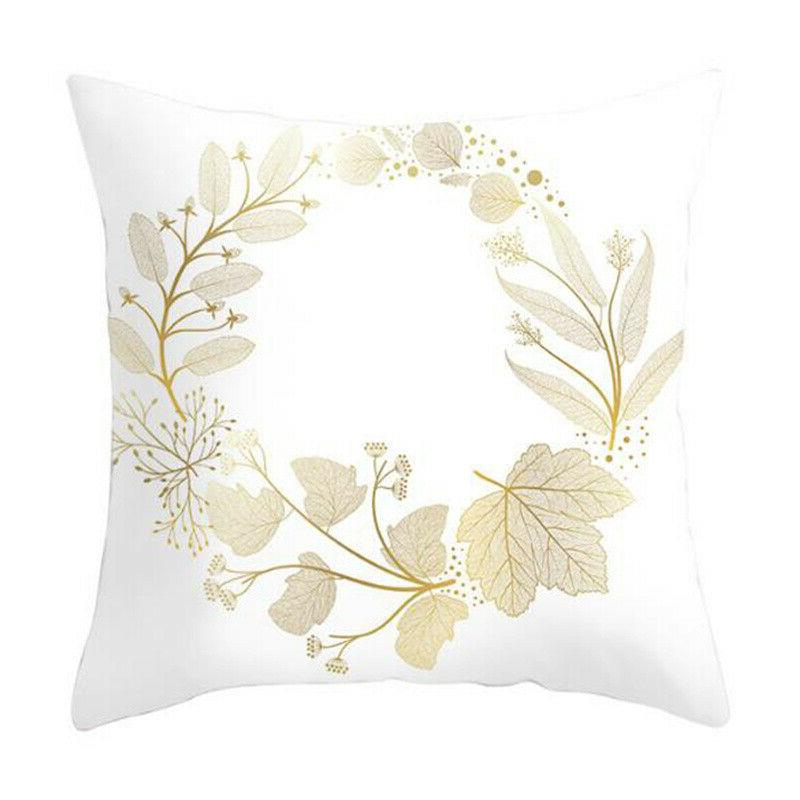"Leaves Print Seat Waist Pillow 18x18"""