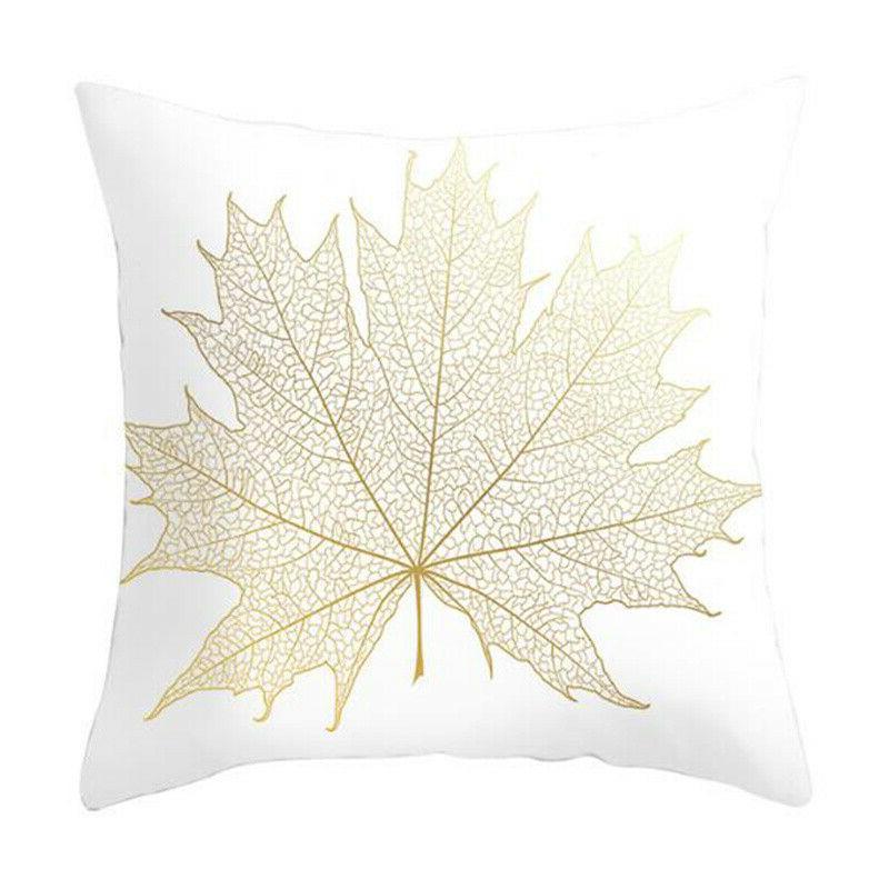 """Leaves Print Cushion Seat Waist Pillow 18x18"""""""