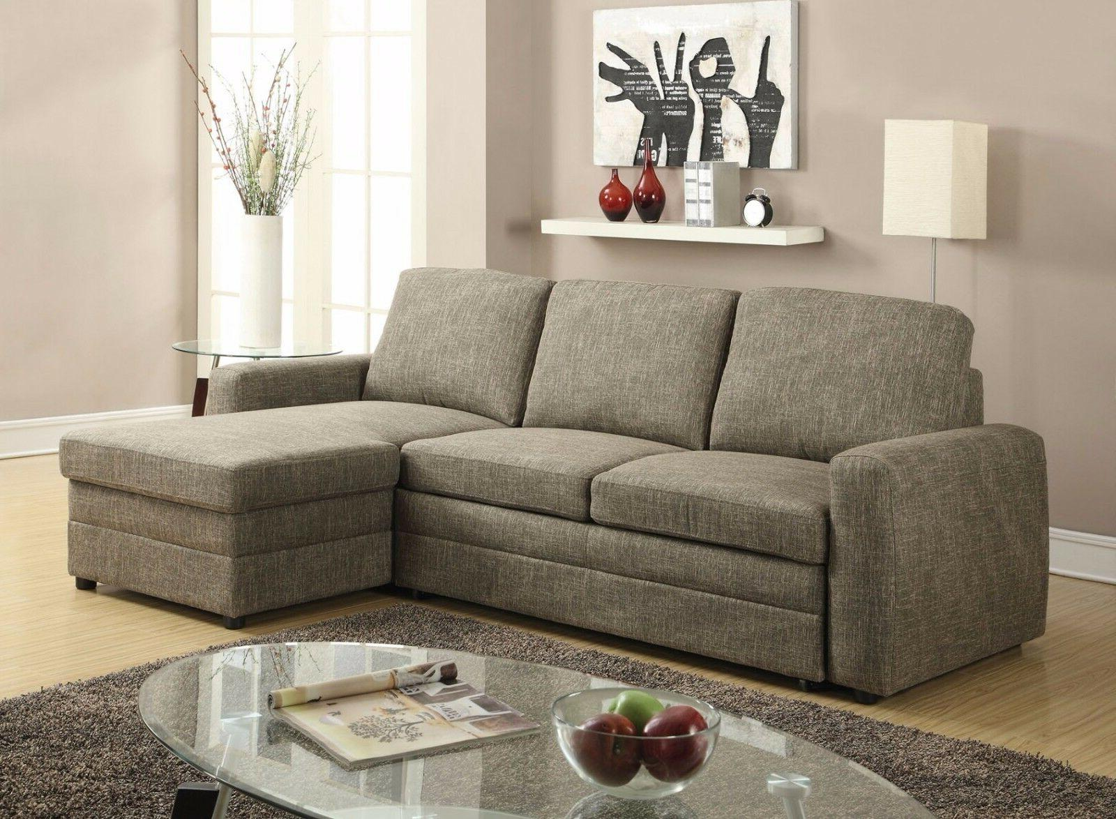 light brown linen fabric sectional sofa set