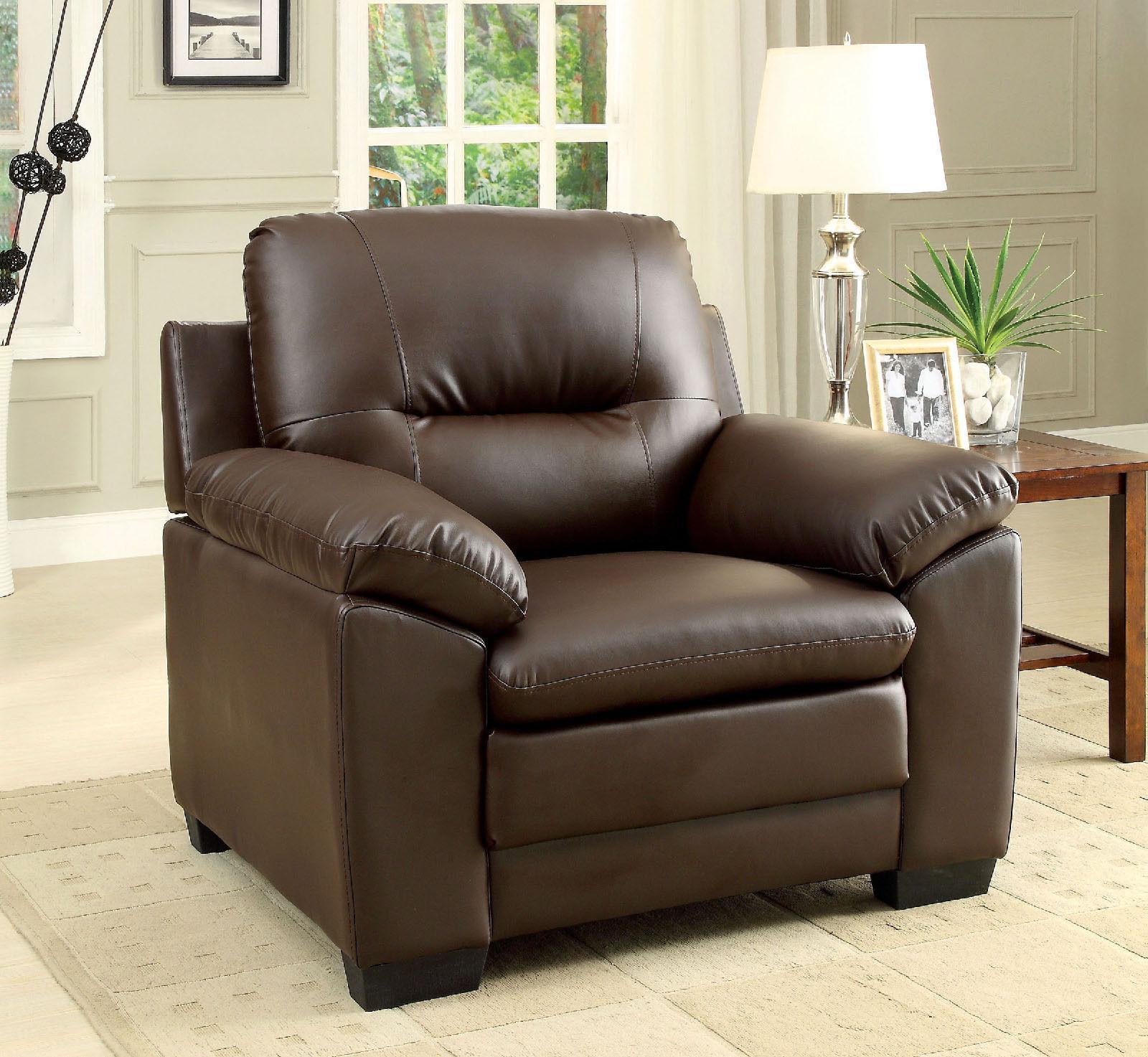 Living Modern Sofa Loveseat Chair 3pc Set Plush Seating