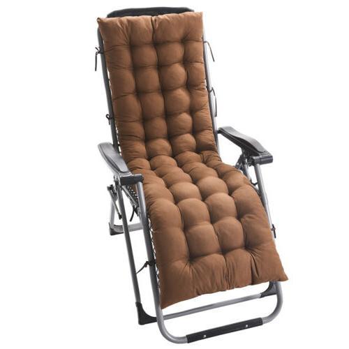 Lounge Chair Cushion Soft Deck Pad+Ties