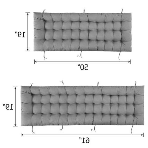Lounge Cushion Soft Outdoor Deck Pad+Ties