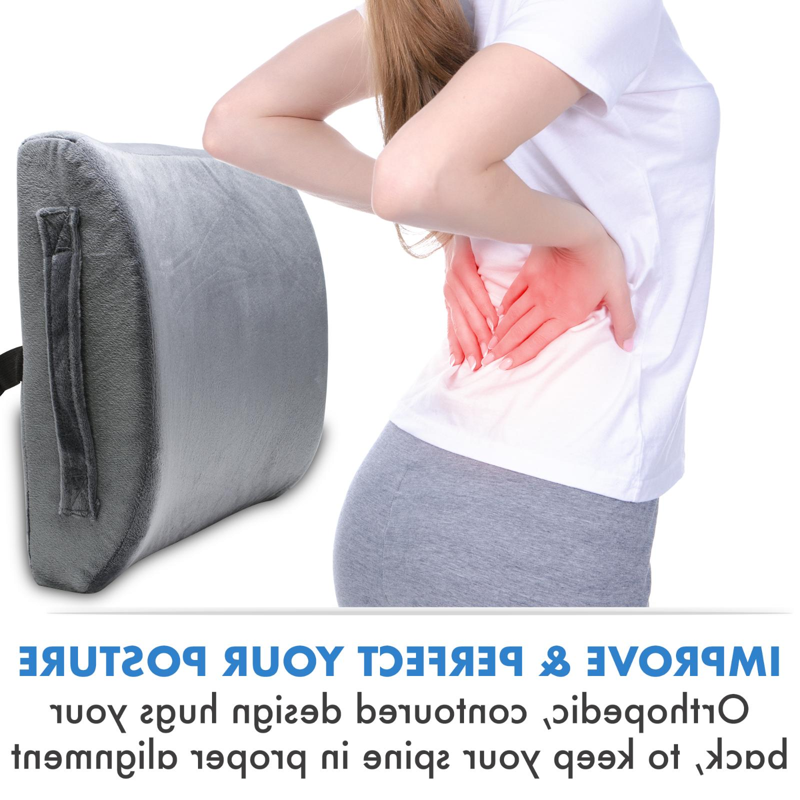 Lower Memory Foam Lumbar Support Pillow