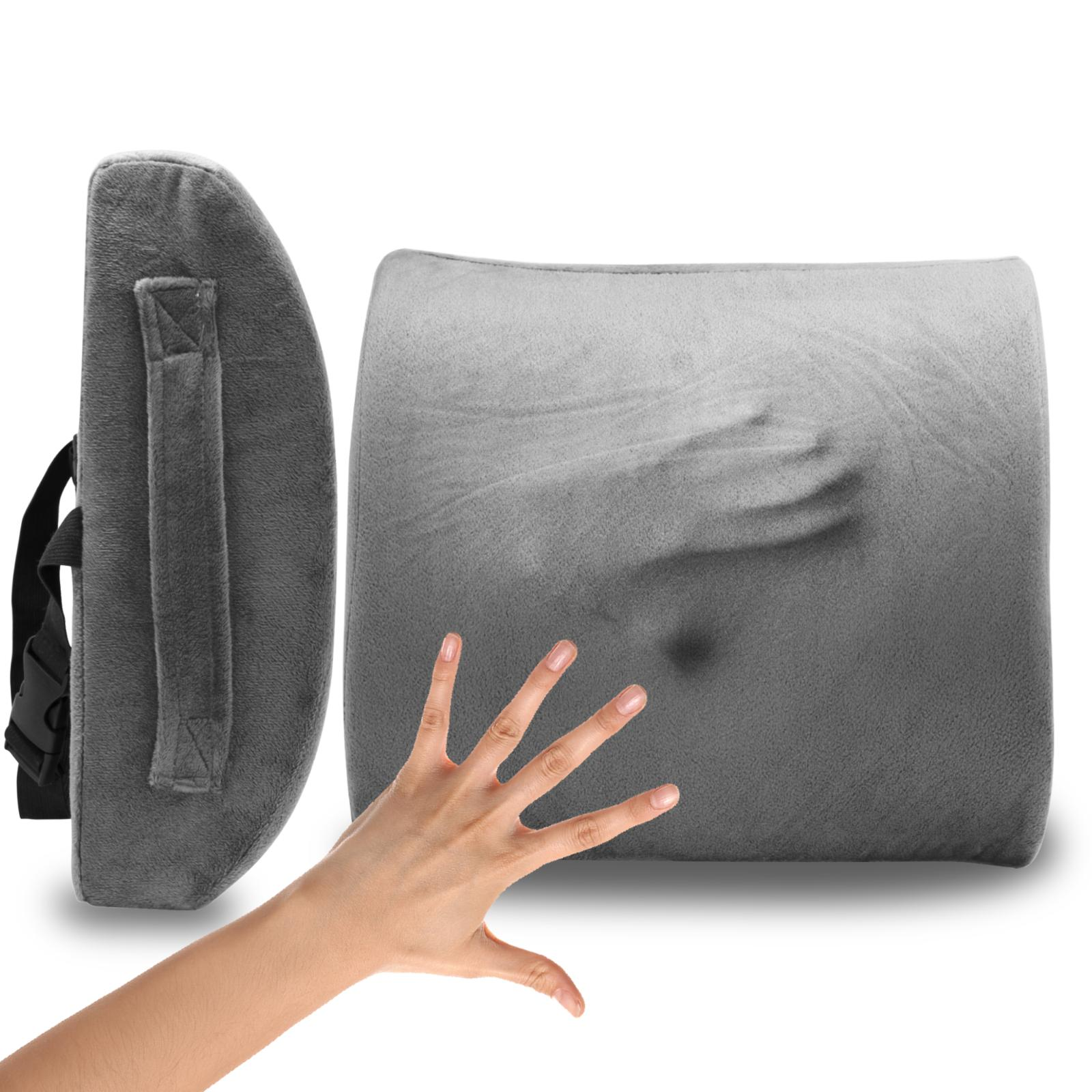 lower memory foam lumbar back support pillow