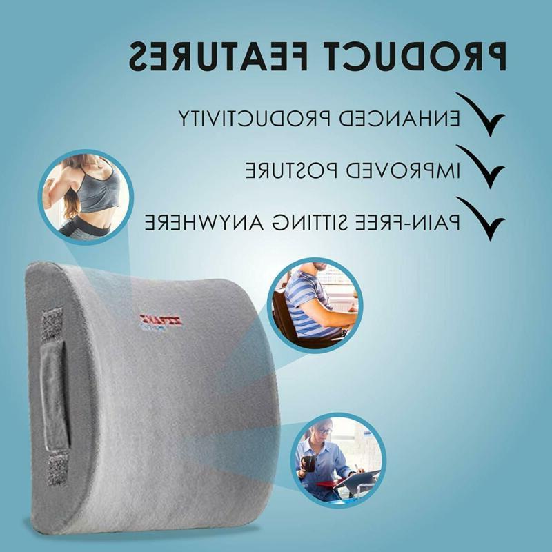 ZIRAKI Lumbar Pillow or Memory Foam,