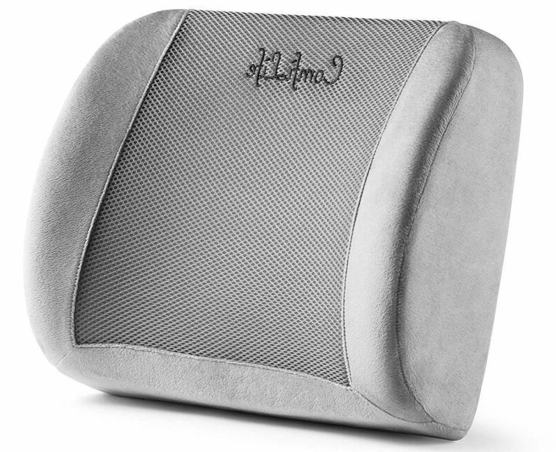Comfilife Lumbar Support Back Pillow Office Chair And Car Se