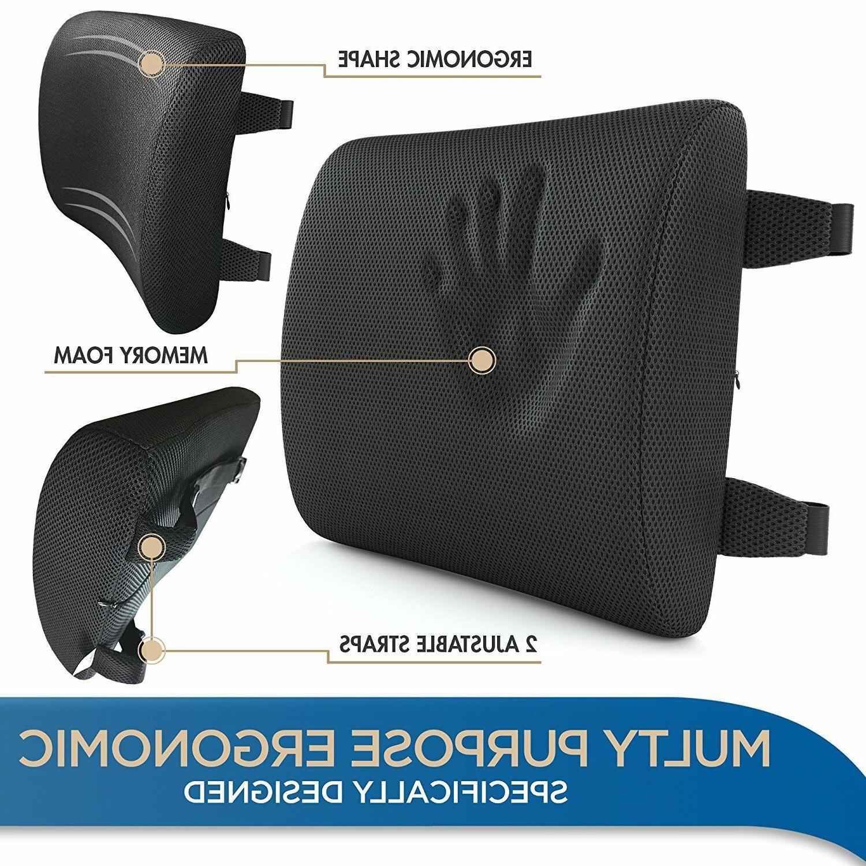 Lumbar Support Chair Back Foam Ergonomic Orthopedic