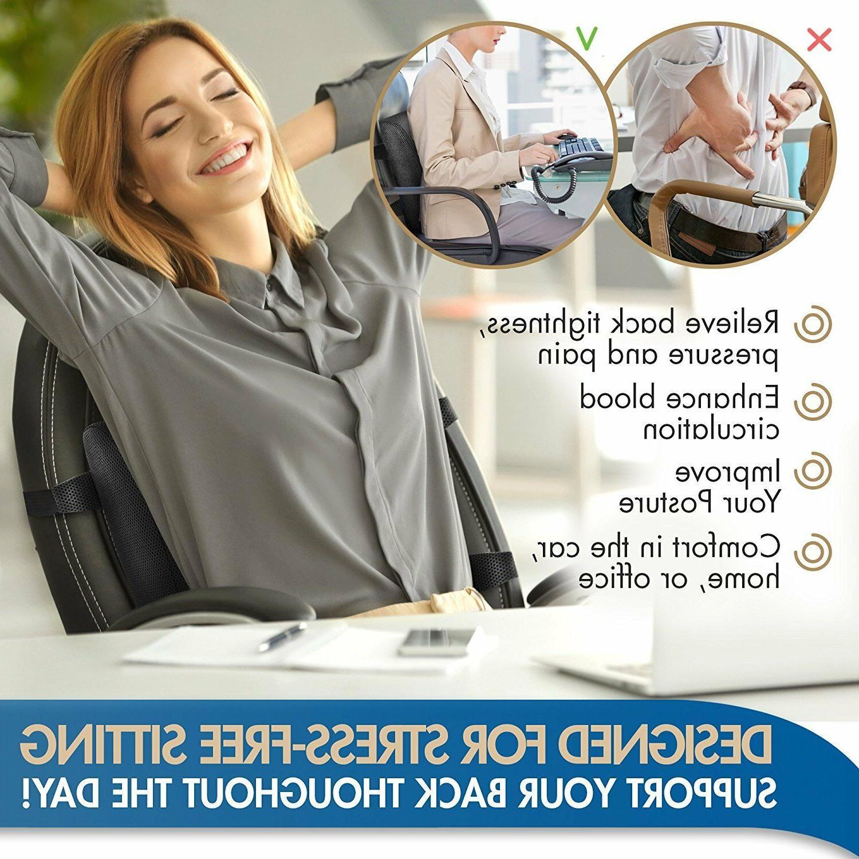 Lumbar Chair Memory Foam Ergonomic Orthopedic