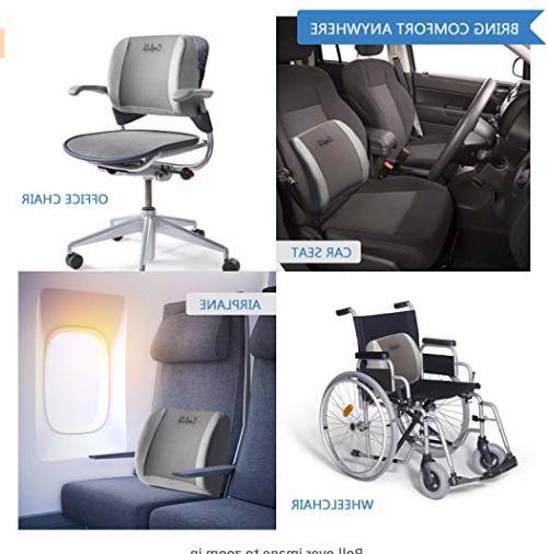 ComfiLife Lumbar Support MEMORY FOAM Chair Cushion