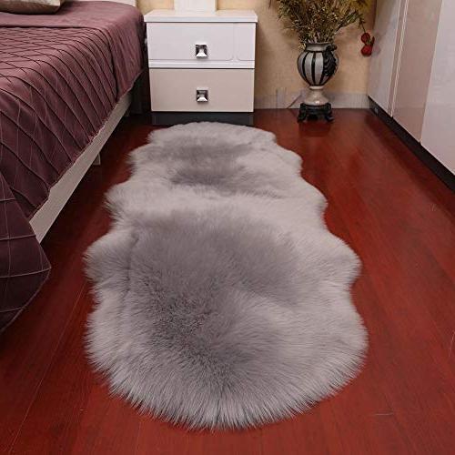 luxury soft oval faux sheepskin