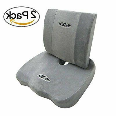memory foam coccyx orthoped seat cushion back