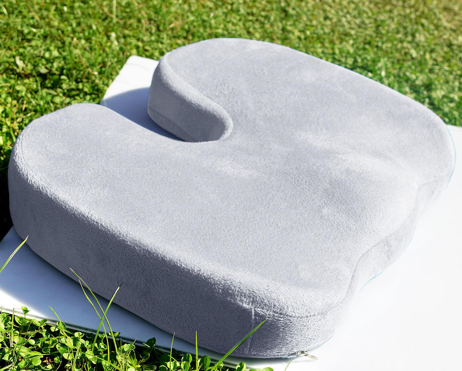 Memory Foam Coccyx Seat Pad Back Cushion Comfort Chair