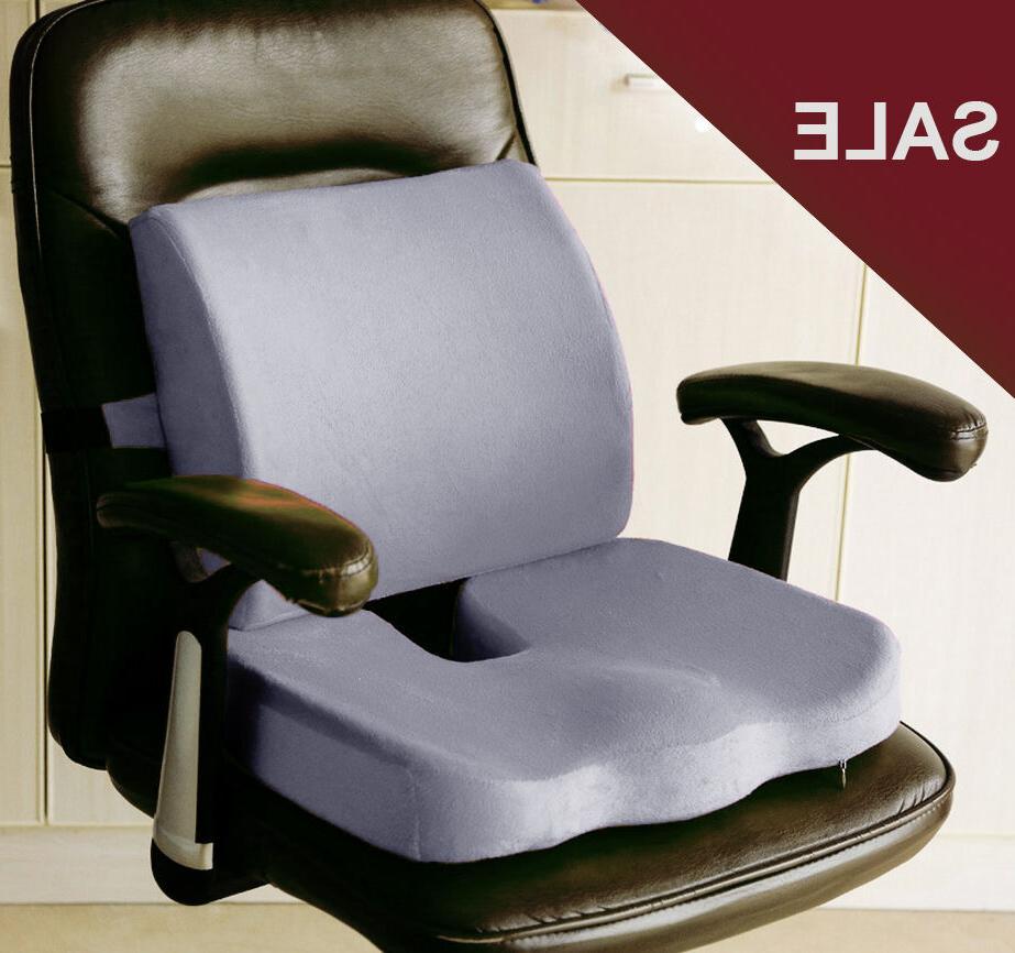 memory foam coccyx orthoped seat pad back
