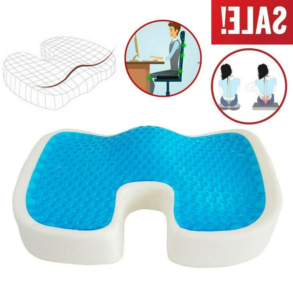 Gel Memory Foam Seat Cushion Soft Pillow Car Office Desk Cha